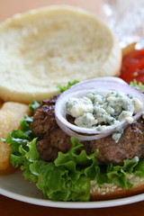 Blue Cheese Hamburger
