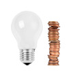 Light bulb with money