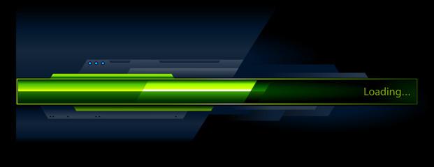 Green progress indicator