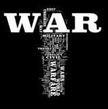 War word cloud poster