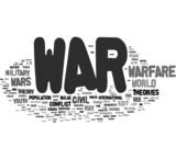 War tag cloud poster