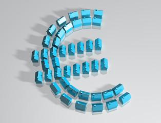 Housing market euro symbol