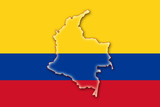 colombia kolumbien flag flagge shape poster
