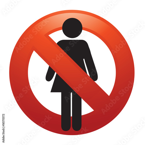 No women sign vector