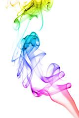 abstract rainbow smoke background