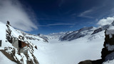 The Great Aletsch Glacier seen from Jungfraujoch