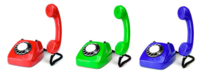 RGB vintage telephones