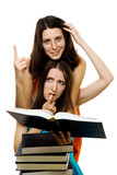 Two woman stydy new subject poster