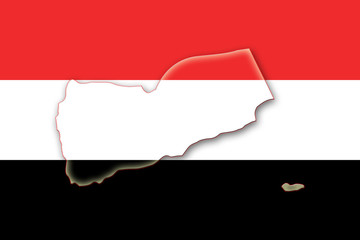 yemen jemen flag flagge shape