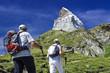 Wanderung zum Matterhorn in der Schweiz
