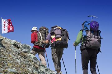 Bergsteiger beim Wandern