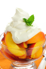 Peaches and Whipped Cream