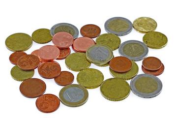 des petites pièces d'euros