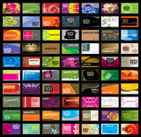 Fototapety Various Business Card Template