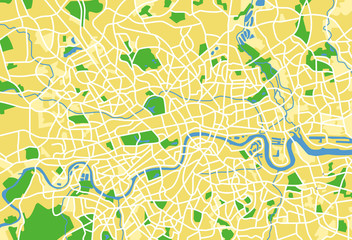 vector map of London.