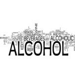 Alcohol and liquor word cloud poster