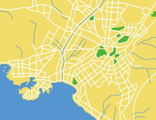 vector map of athens.