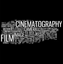 Cinematografie word cloud