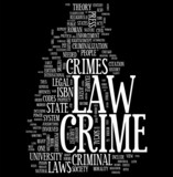 Crime and Order word cloud poster