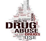 Drug word cloud poster
