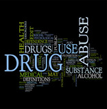 Drugs word clouds poster
