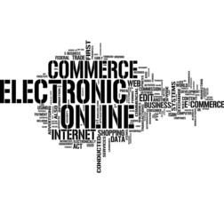 Online commerce word cloud