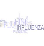 H1N1 swine flu word cloud poster