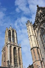 Gothic cathedral and tower