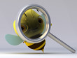 The bee with a magnifier