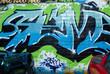 Abstract Urban graffiti