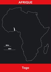 Carte Afrique - Togo- Vectoriel