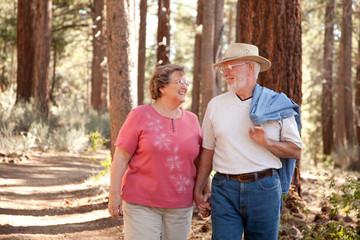Loving Senior Couple Outdoors