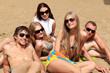 company on a beach