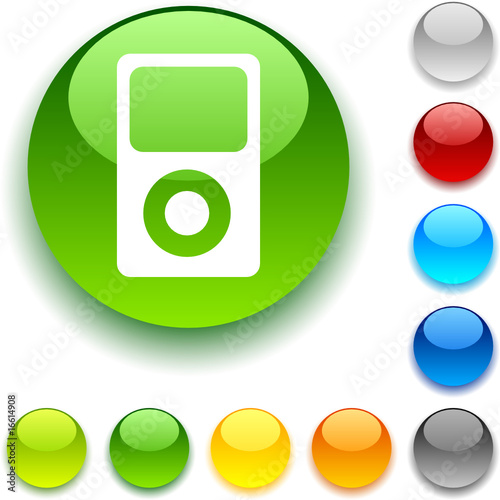 poster of Media shiny button. Vector illustration