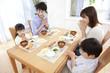 朝食時に「頂きます。」と言う家族