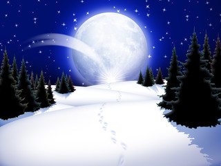 Natale Paesaggio-Chistmas Lanscape-Noël Paysage-3