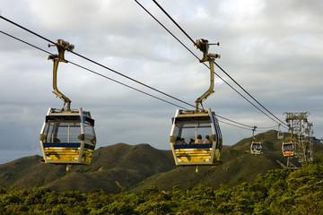 Famous Gondola on Lantau Island, Hong Kong