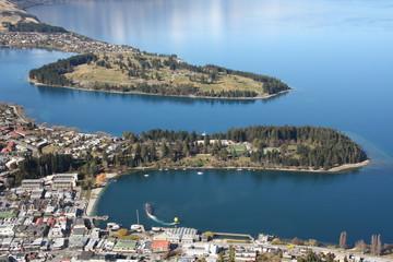 View across Queenstown New Zealand