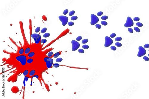 tache peinture rouge et traces bleues de arap photo libre de droits 16619752 sur. Black Bedroom Furniture Sets. Home Design Ideas