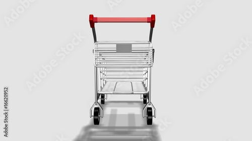 Trolley rotating. Concept of consumption