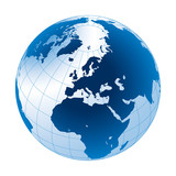 Erdball und Business weltweit