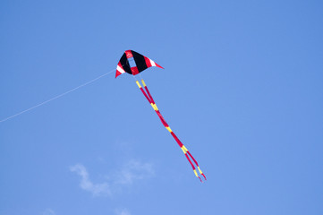 one kite in sky