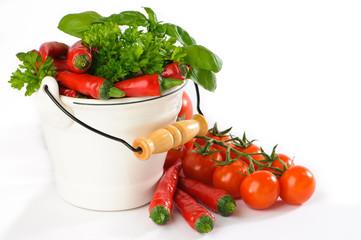 Red Chilis & Vine Tomatoes