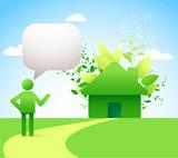 Green living / green house - environmental concept
