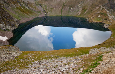 lake the eye, rila, bulgaria