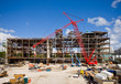 canvas print picture - Construction Site on Sunny Day