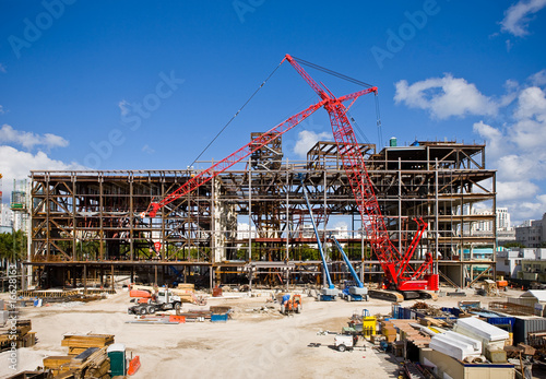 canvas print picture Construction Site on Sunny Day