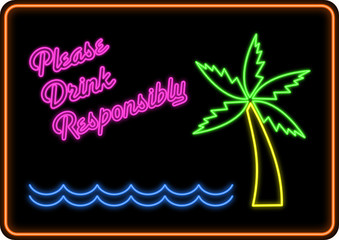 Please Drink Responsibly Neon Sign