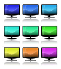 LCD TV - different coloured screens