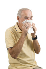 Senior man with cold or allergy